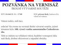 Pozvánka na vernisáž - 100 let ČSR-na web